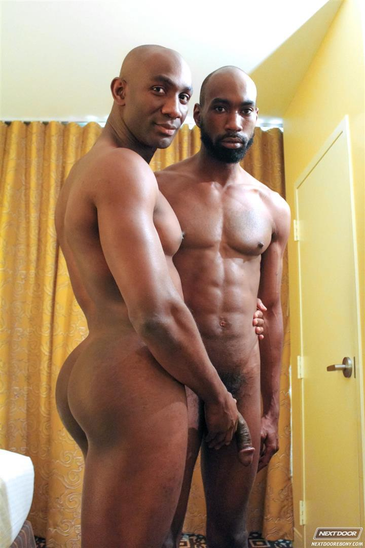 Next Door Ebony Astengo and PD Fox Big Black Cocks Fucking Amateur Gay Porn 07 Two Hung Black Guys Having Anonymous Gay Sex In A Hotel Room