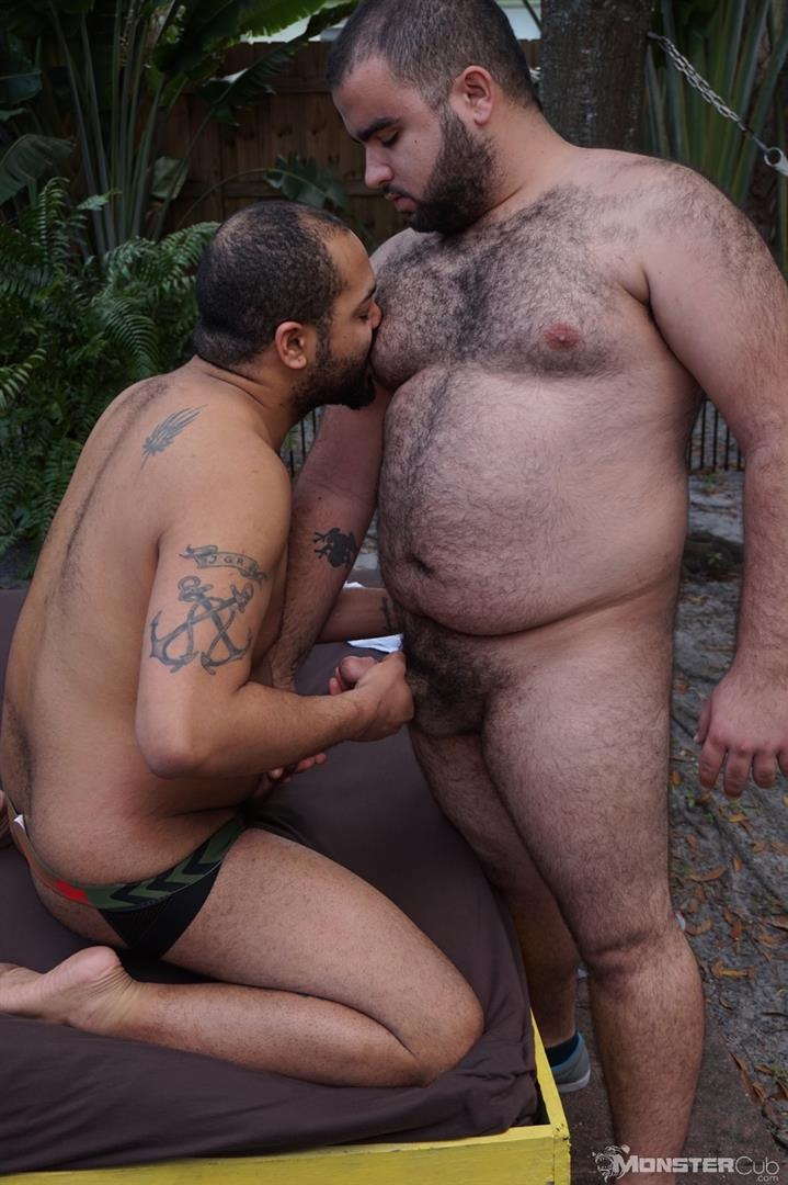 Chubby bear men bareback