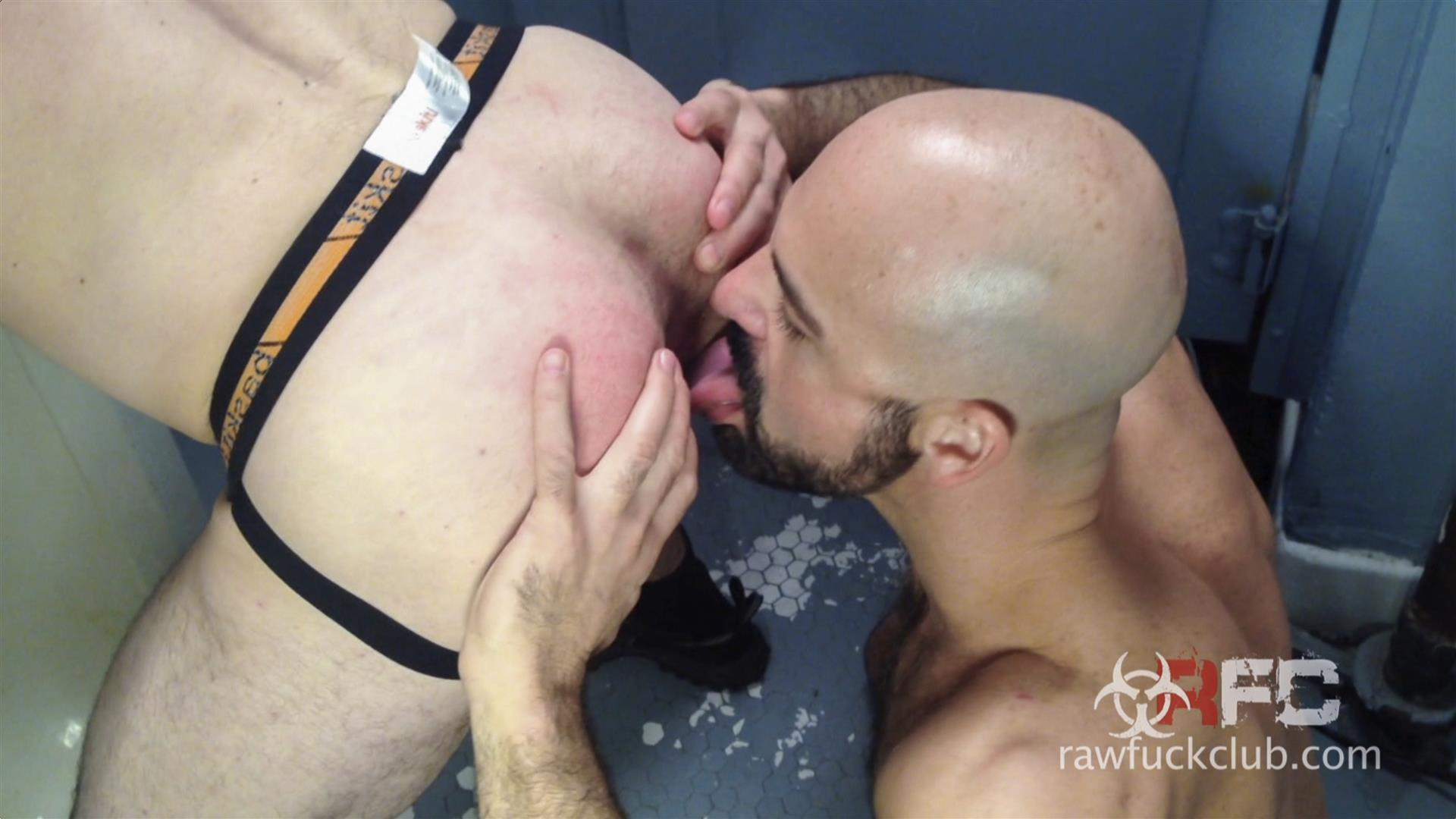 Raw Fuck Club Adam Russo and Kyle Ferris Anonymous Bareback Sex Amateur Gay Porn 4 Adam Russo Barebacking A Stranger In A Dirty Bar Bathroom