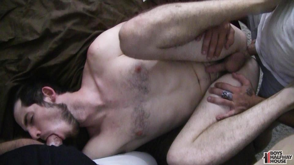 Boys-Halfway-House-Free-Download-Toby-Springs-Bareback-18 Straight Young Man Gets Two Raw Thick Dicks At The Halfway House