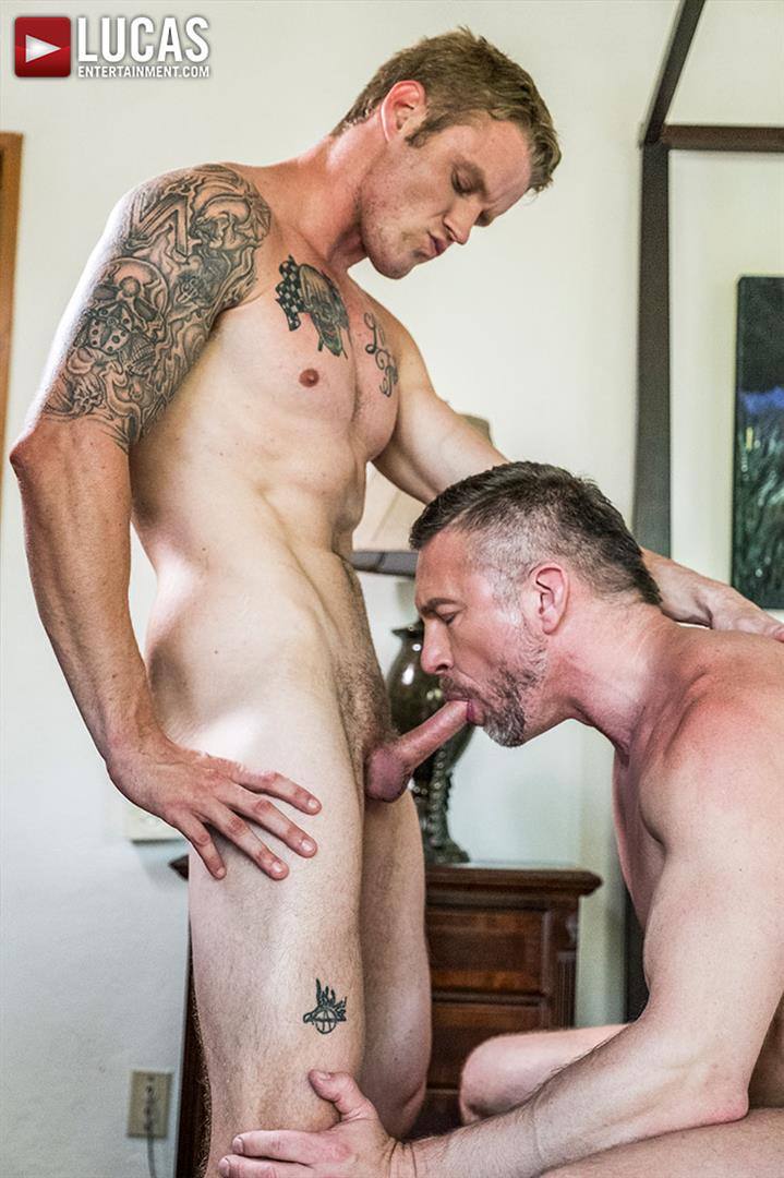 Lucas Entertainment Shawn Reeve and Tomas Brand Bareback Daddy Sex 08 Bareback Riding A Thick Uncut Daddy Dick