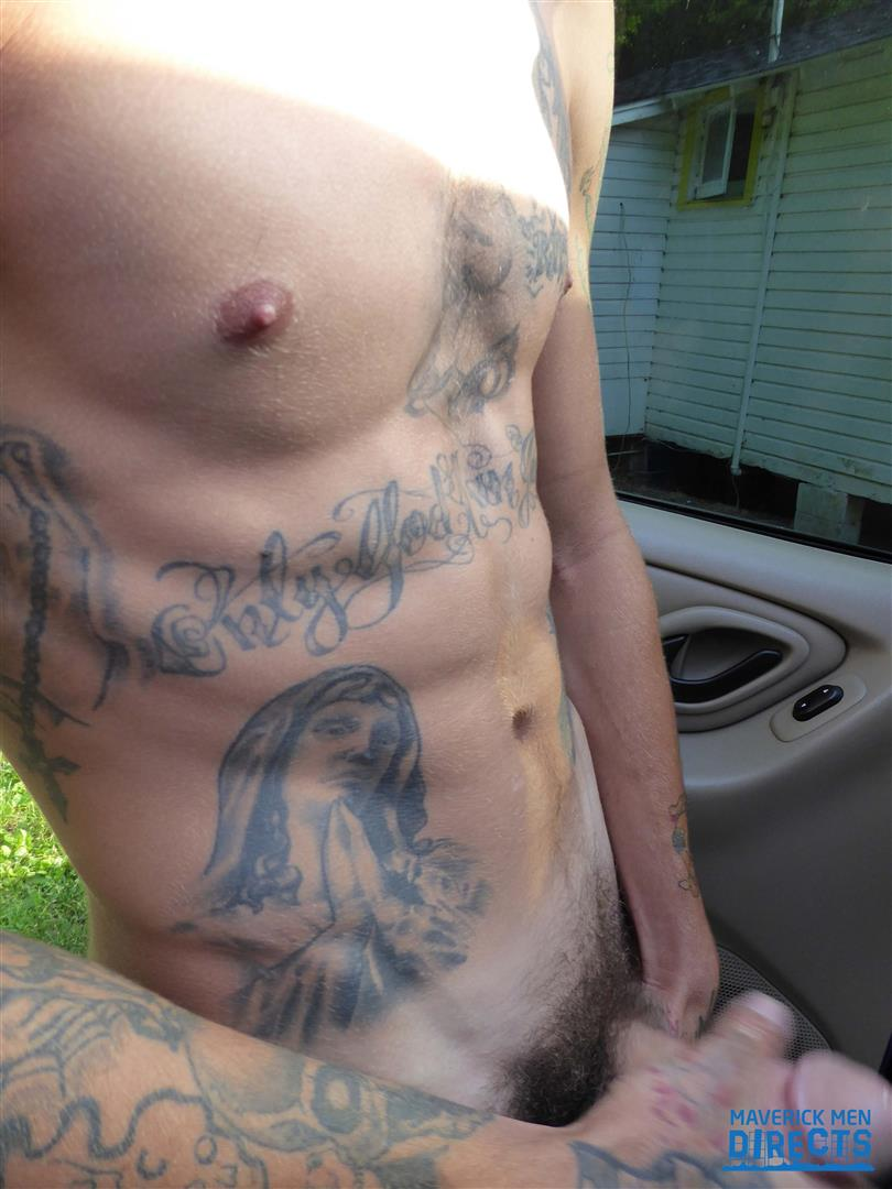Maverick-Men-Directs-Bareback-In-The-Backseat-Of-A-Car-07 Getting Bred In The Backseat Of A Car